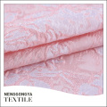 Professional classical pink jacquard yarn dyed 100% polyester fabric