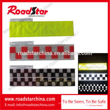 High visibility reflective prismatic tape