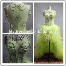 Real Made Pictures Elegant Beading Custom Made Formal Bridal Dress Vestidos De Novia BW098 short wedding dress long train