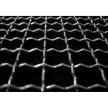 Engranzamento de fio frisado / malha de arame quadrada