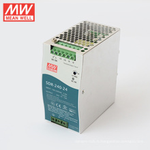 MEANWELL 75w à 960watt mince et 94% haute effi SDR série 240watt din rail d'alimentation 24vdc sortie SDR-240-24