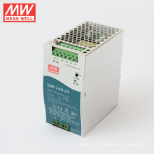 MEANWELL 75w to 960watt slim and 94% high effi SDR series 240watt din rail power supply 24vdc output SDR-240-24