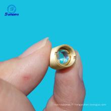 Longueur d'onde 400-450nm M9X0.5 focale longueur 8mm collimateur lentilles