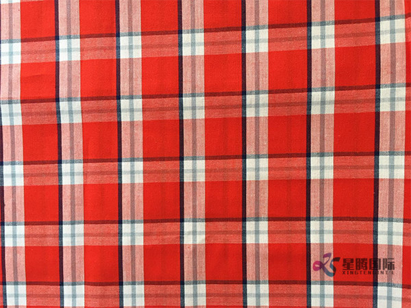 Red Check 100% Cotton Fabric