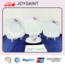 Taza de café de alta calidad simple de la placa de la porcelana de la etiqueta