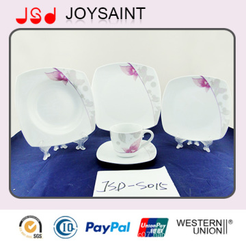 High Quality Simple Decal Porcelain Tableware Plate Coffee Cup