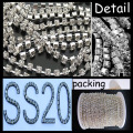 SS20 Silver Plating Round Base Claw Strass Cup Chain