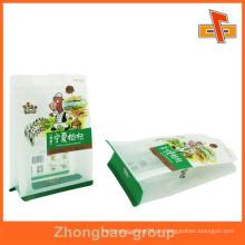 Kundenspezifische Plastikquadratboden flache Unterseite Tasche für Mispel