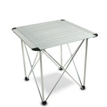 Tabela de piquenique exterior portátil simples da liga de alumínio, tabela do assado