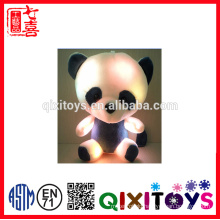 2016 new design mini colourful music LED Teddy bear plush toy