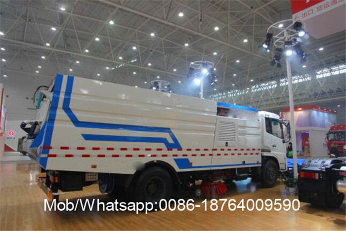 Single Motored Sewage Mengumpulkan Road Sweeper Truck