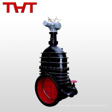 tipo de flange de ferro fundido pn25 bypass volume grande válvula de porta de 24 polegadas