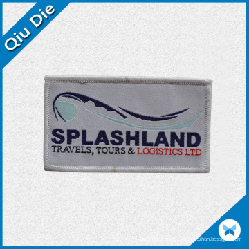 Promotional Velcro Backing Woven Badge/Label for Working Garments
