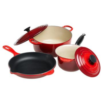 Color-Enamel Coating Cast Iron Cookware