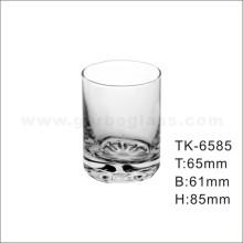 Vaso de vidrio recto con parte inferior de flor (TK-6585)