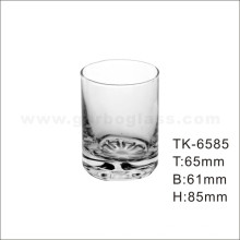 Straight Glass Tumbler with Flower Bottom (TK-6585)