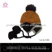 Sombreros calientes del esquí del invierno para las mujeres diseño hermoso de la gorrita tejida del diseño barato para la venta nuevo