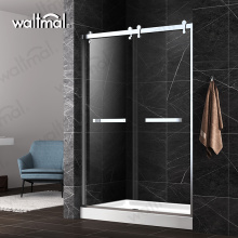 Factory Wholesale Two Sliding Shower Glass Door With SUS Frame
