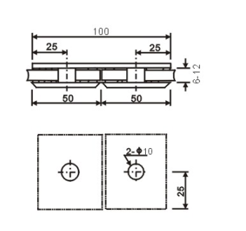 180 Degree Brackets for Holding Glass Panels