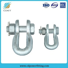 Factory source manufacturing for Power Line Connectors Hot-dip Galvanized U-type Shackles For Transmission Line supply to Seychelles Importers