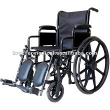 Black Powder Coated with Mag Wheel Manual Wheelchair