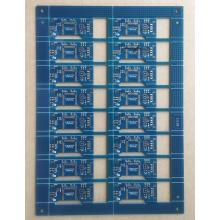 2 layer 0.8mm 1OZ blue solder ENIG PCB