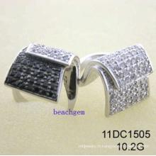 CZ argent anneaux bijoux (11DC1505)