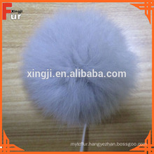 Dyed Single Color Rabbit Fur Pom Pom