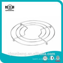 Estera de aislamiento térmico de cocina de metal con cuatro bolas de acero