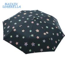 ODM Novo Produto Incrível Design Personalizado Logotipo Atacado Barato Folding Impressão Mágica Guarda-chuva Cor Mudando quando Molhado