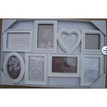 Weiß Love Heart Shape Collage-Fotorahmen