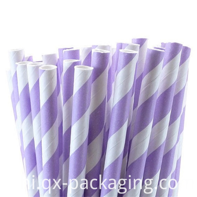 Paper Straws Purple