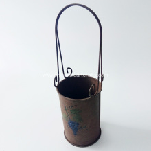 Classic Design Metal Grape Wine Hanger Bucket