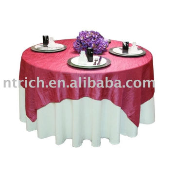 100%polyester tablecloth, banquet/hotel table cover, satin table overlay