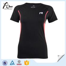 Nylon Elastane Femmes Running Wear with Short Sleeve