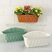 (mur) suspendus moule en plastique de pot de fleur