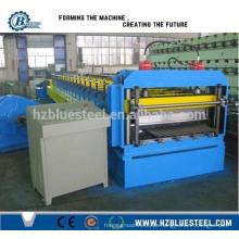 Maçã de rolo de aço revestido de cor ondulada / Máquina de formação de rolo de aço ondulado