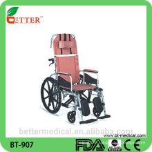 Chaise longue inclinable en fauteuil roulant en aluminium
