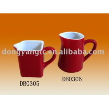 Factory direct wholesale red glazed ceramic milk cup