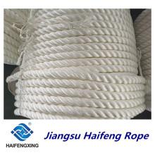 Cuerda de nylon PE de la cuerda de la cuerda del amarre de la cuerda del filamento del polipropileno 3-Strand