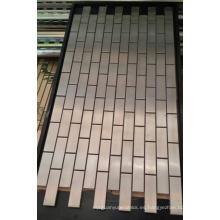 Azulejo de pared de mosaico, mosaico de metal de acero inoxidable (SM264)