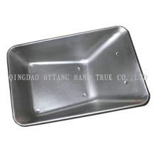 28 wheel barrow metal galvanized tray