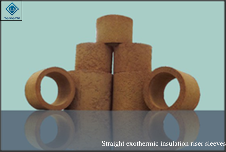 Straight exothermic insulation riser sleeves