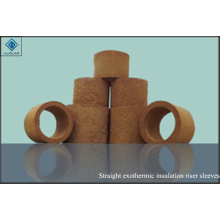 Straight insulation exothermic riser sleeves