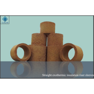 Riser sleeves straight exothermic insulation