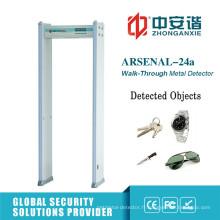 6/18 zones d'alarme Constructeur commercial Détecteur de métaux Porte
