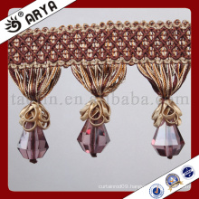 2016 Great Sales Handmake Product for Home Decoration and Curtain Accessories of Decorative Leather Tassel and Beads Fringe