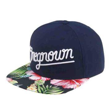 Sublimation Printed Flat Floral Brim Custom Snapback Caps