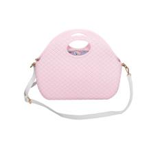 Rosa weiche EVA Diamond Crossbody Schulter Strandtaschen
