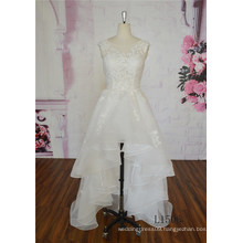 Unique Lace Wedding Dress A-Line Knee Length Wedding Dress